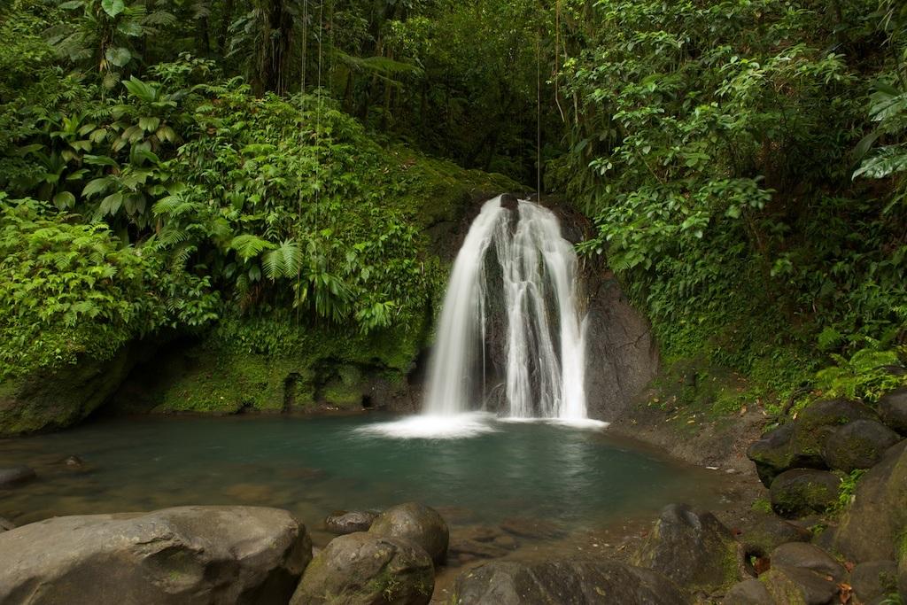 Cascade aux Ecrevisses (Crayfish Waterfall) in Parc National de la Guadeloupe.