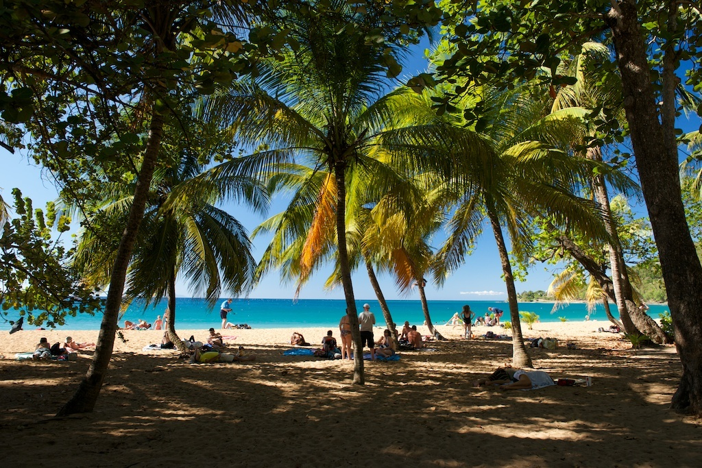 Plage Grande Anse, one of the island's prettiest beaches.