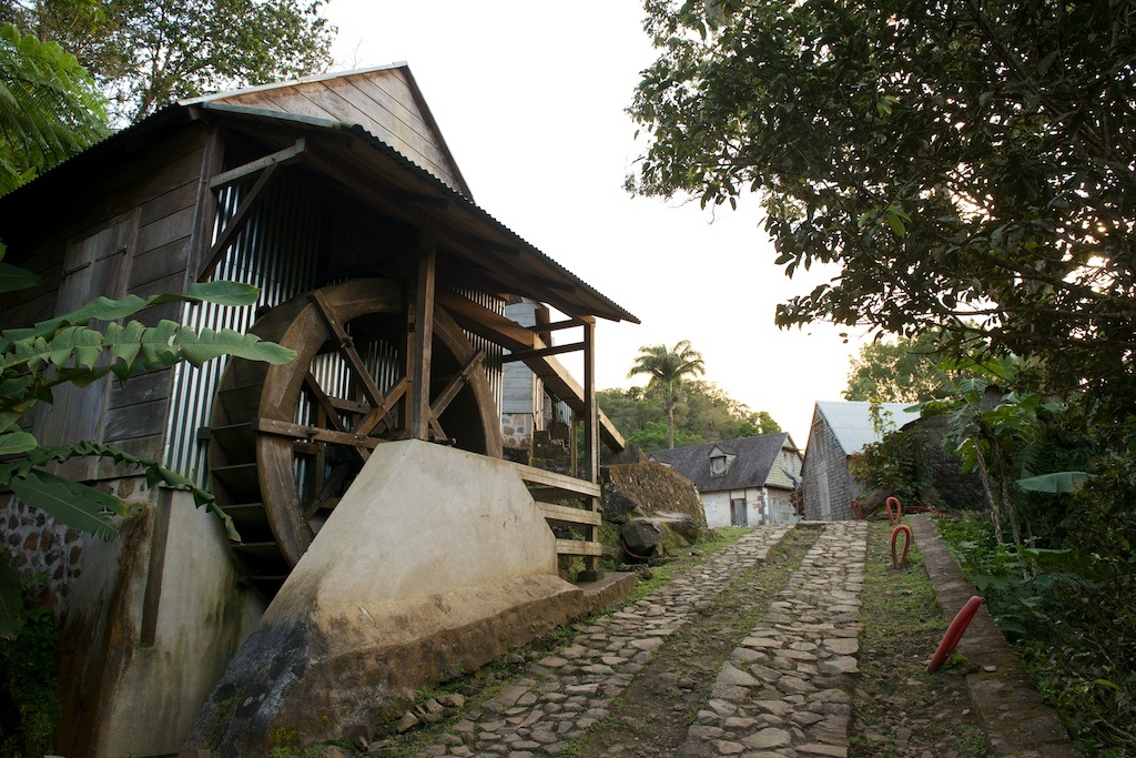 The old mill at L'Habitation La Griveliere, a coffee-growing estate.